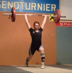 Emily Cushion weightlifting
