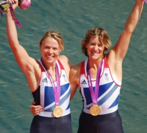 Anna Watkins with Katherine Grainger